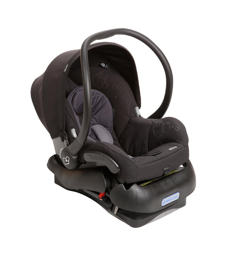 maxi cosi mico infant lightweight car seat total black car seats baby gear. Black Bedroom Furniture Sets. Home Design Ideas