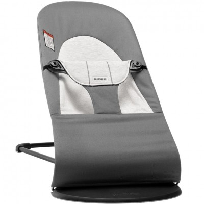 BabyBjorn Bouncer Balance Soft, Cotton/Jersey - Dark Grey/Grey