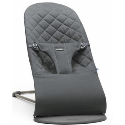 BabyBjorn Bouncer Bliss, Quilted Cotton - Anthracite (Slate Grey)