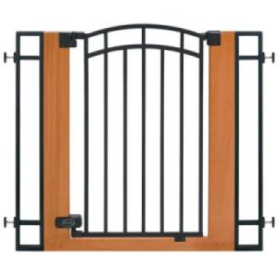 Summer Infant Stylish n' Secure Extra Tall Wood & Metal Walk-Thru Gate