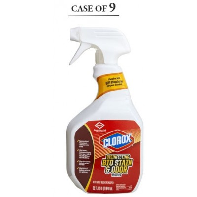 Surface Disinfectant Cleaner Clorox Bio Stain & Odor Remover Peroxide Based Liquid 32 oz. NonSterile Bottle Scented - Case of 9