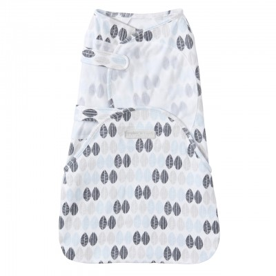 Halo Swaddlesure Adjustable Swaddling Pouch Blue Leaves - Small