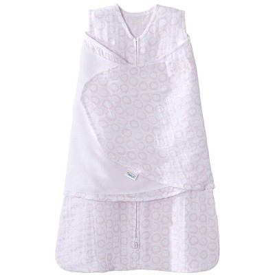 Halo Sleepsack Swaddle Pink Open Circles - Newborn