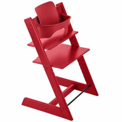 Stokke Tripp Trapp Baby High Chair & Baby Set - Red