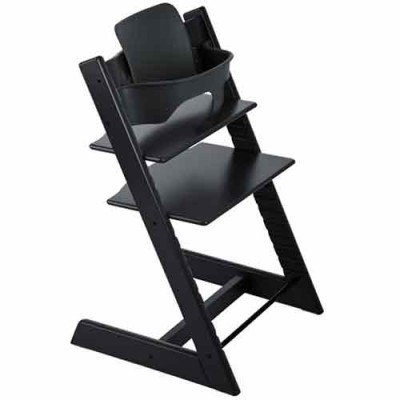 Stokke Tripp Trapp Baby High Chair & Baby Set - Black