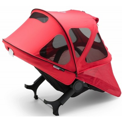 Bugaboo Donkey Breezy Sun Canopy - Neon Red
