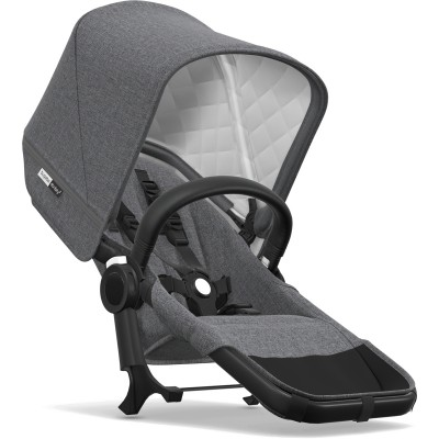Bugaboo Donkey 2 Classic Duo Extension Set - Black/Gray Melange