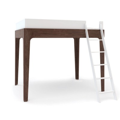 Oeuf Perch Loft Bed - White/Walnut
