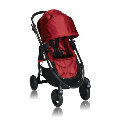 Baby Jogger City Versa One Hand Fold Stroller Red