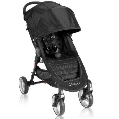 Baby Jogger City Mini Four Wheel Lightweight Easy Fold Stroller - Black