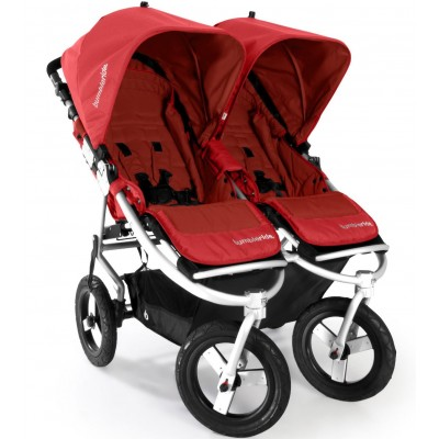 Bumbleride Indie Twin Jogging Stroller in Cayenne Red