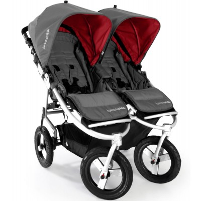 Bumbleride Indie Twin Jogging Stroller in Fog Grey