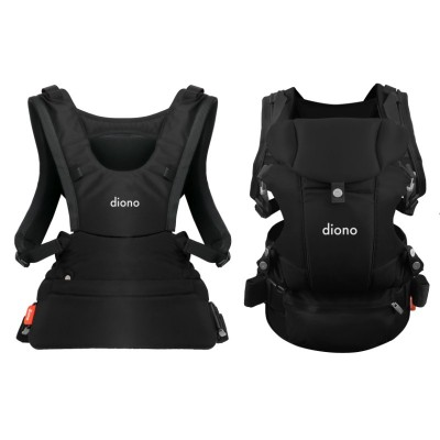 Diono Carus Essentials Front and Back Carrier 3 in 1 Backpack - Black