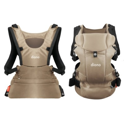 Diono Carus Essentials Front and Back Carrier 3 in 1 Backpack - Sand
