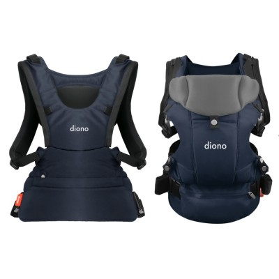 Diono Carus Essentials Front and Back Carrier 3 in 1 Backpack - Navy