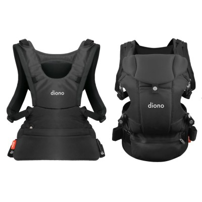 Diono Carus Essentials Front and Back Carrier 3 in 1 Backpack - Gray Dark