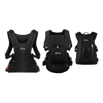Diono Carus Complete Front and Back Carrier 4 in 1 with backpack - Black