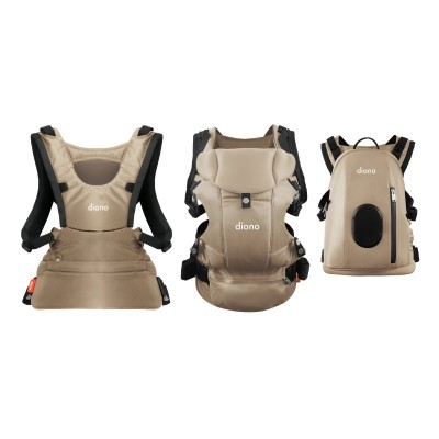 Diono Carus Complete Front and Back Carrier 4 in 1 with backpack - Sand