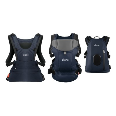 Diono Carus Complete Front and Back Carrier 4 in 1 with backpack - Navy