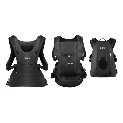 Diono Carus Complete Front and Back Carrier 4 in 1 with backpack - Gray Dark