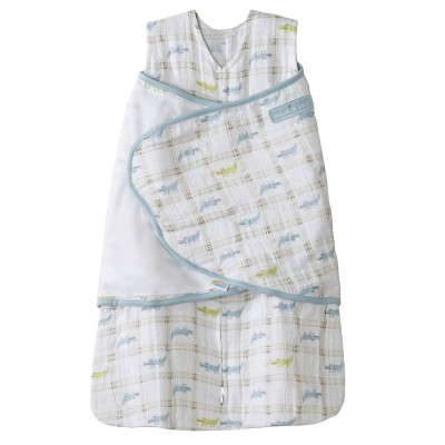 Halo Sleepsack Swaddle Blue Alligator Plaid - Small
