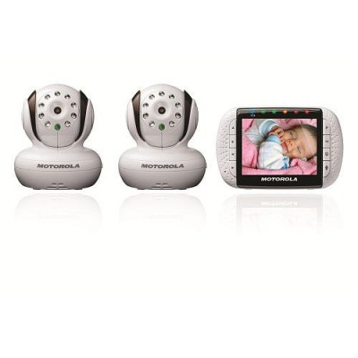 "Motorola Digital Video Baby Monitor with 3.5"" Color Screen and Two Cameras MBP 36/2"