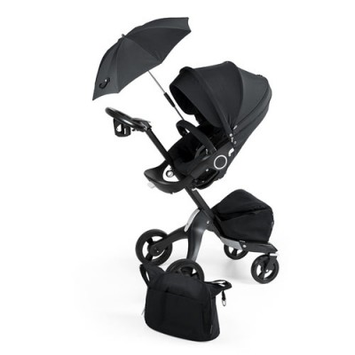 Stokke Xplory True Black V4 Limited Edition Stroller Set