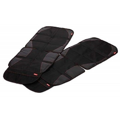 Diono Pack of 2 Car Seat Protector Ultra Mat - Black