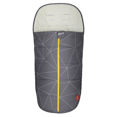 Diono Edition Universal All Weather Footmuff - Gray Linear