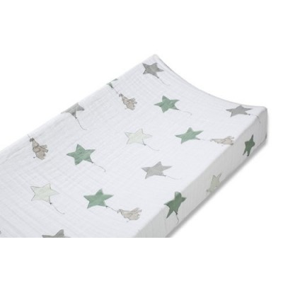 Aden and Anais Double - Layer Changing Pad Cover in Up, Up and Away