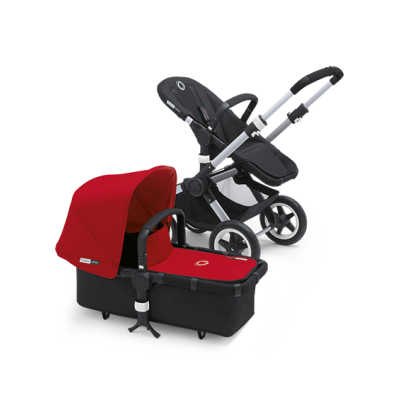 Bugaboo Donkey Tailored Fabric Set Extendable Sun Canopy Red