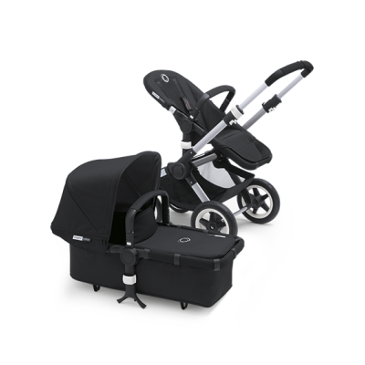 Bugaboo Donkey Tailored Fabric Set Extendable Sun Canopy Black