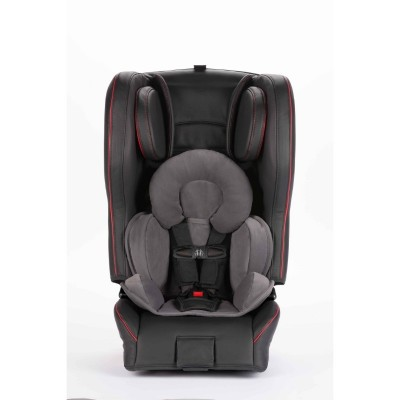 Diono Rainier 2 AXT Sport Latch All in One Convertible Car Seat - Black Red Leather