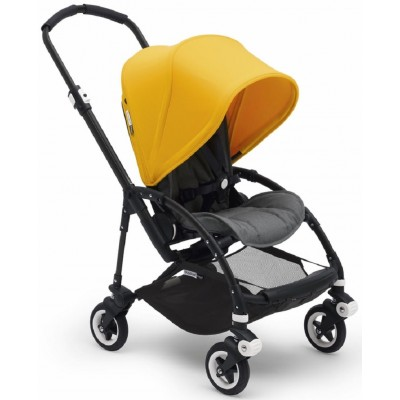 Bugaboo Bee5 Complete Stroller Black/Grey Melange - Sunrise Yellow