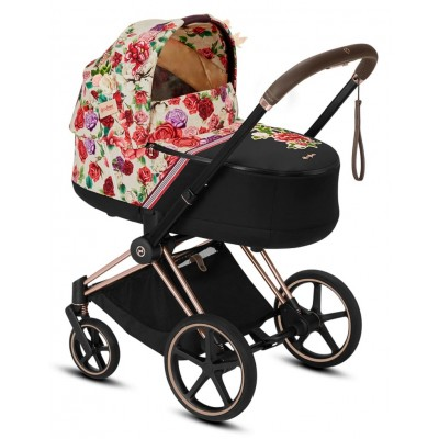 Cybex Priam Lux Spring Blossom Carry Cot - Light Beige