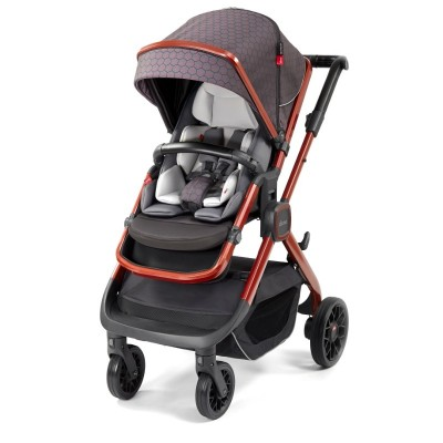 Diono Quantum 2 Edition Full Size Stroller - Charcoal Copper Hive