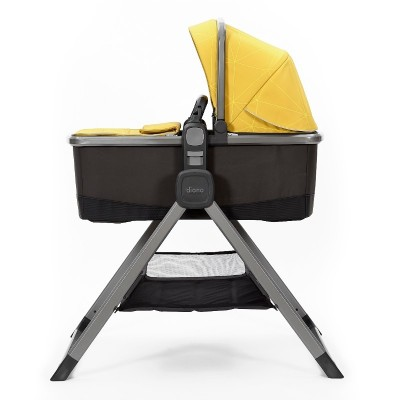 Diono Quantum 2 Carrycot and Travel Stand - Yellow Sulphur Linear