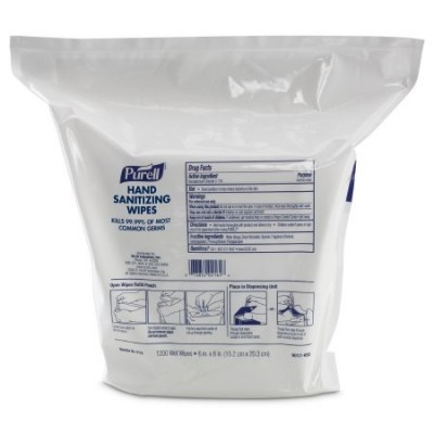 PURELL Hand Sanitizing Wipes 1200 Count Refill, High Capacity Wipes Dispensers