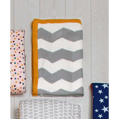Mamas & Papas Patternology Knitted Blanket - Chevron