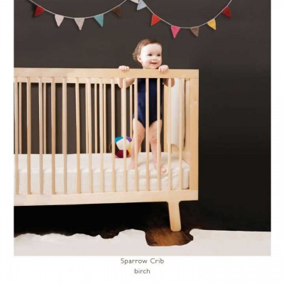 Oeuf Sparrow Crib - White