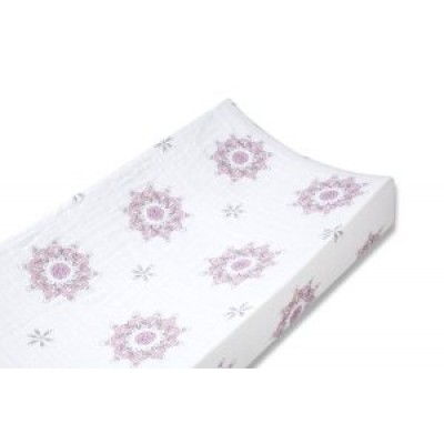 Aden + Anais Classic Muslin Changing Pad Cover - For The Birds - Medallions