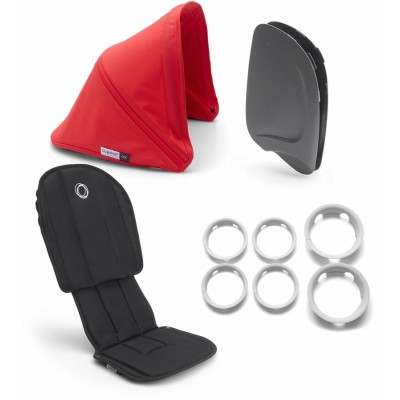 Bugaboo Ant Style Set Complete Black - Neon Red
