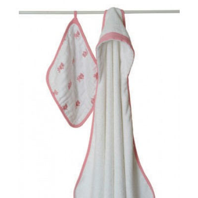 Aden + Anais  Towel & Washcloth Set in Bathing Beauty