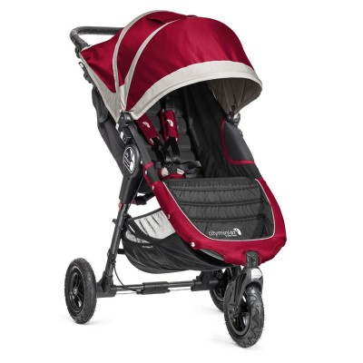 Baby Jogger City Mini GT Easy Fold Stroller Crimson/Gray