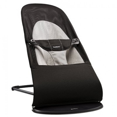 Baby Bjorn Bouncer Balance Soft Black/Dark gray, Cotton
