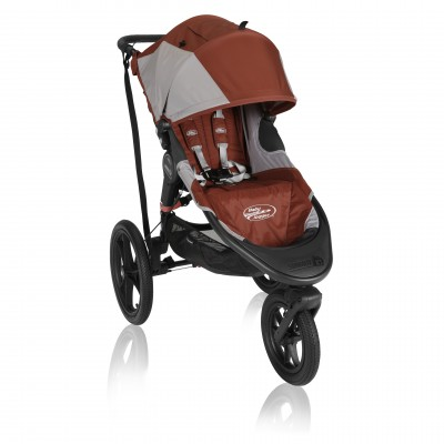 Baby Jogger Summit X3 Single Stroller Orange / Gray