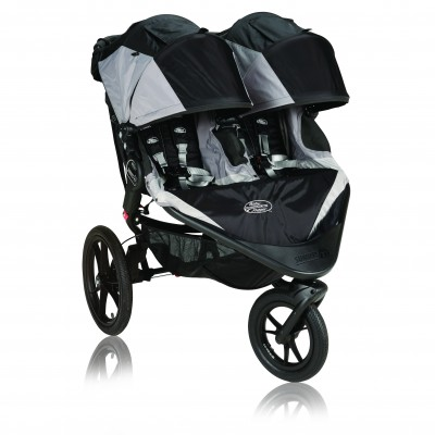 Baby Jogger Summit X3 Double Stroller Black / Gray