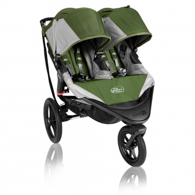 Baby Jogger Summit X3 Double Stroller Green / Gray