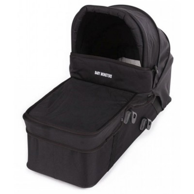 Baby Monster Carrycot with Lid - Black