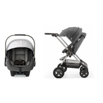 Stokke Scoot V2 Stroller with Nuna Pipa Car Seat Promo - Black Melange